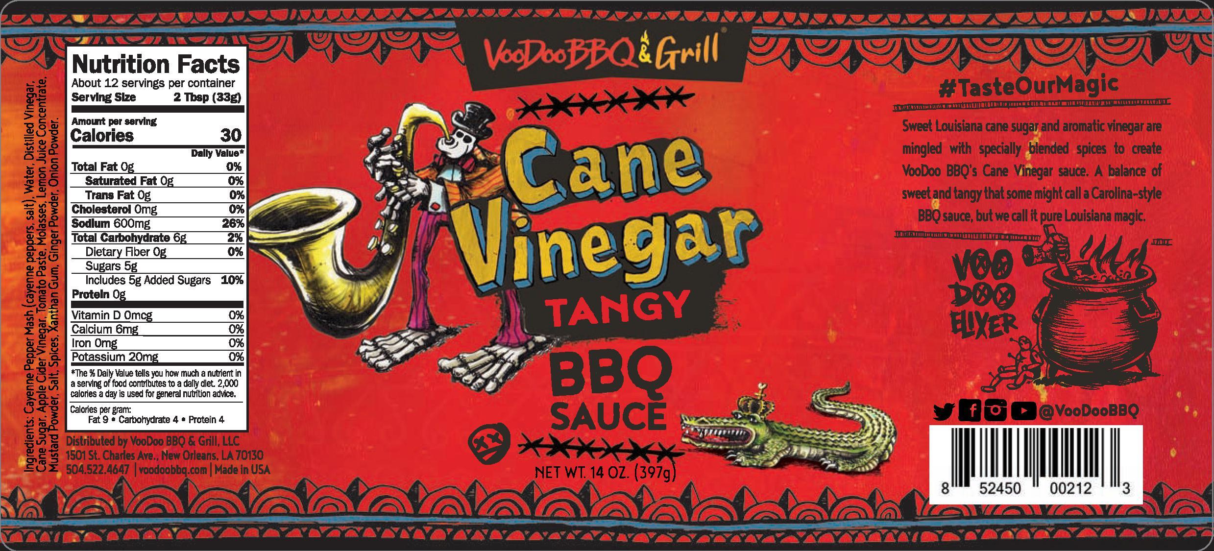 VooDoo Cane Vinegar Sauce