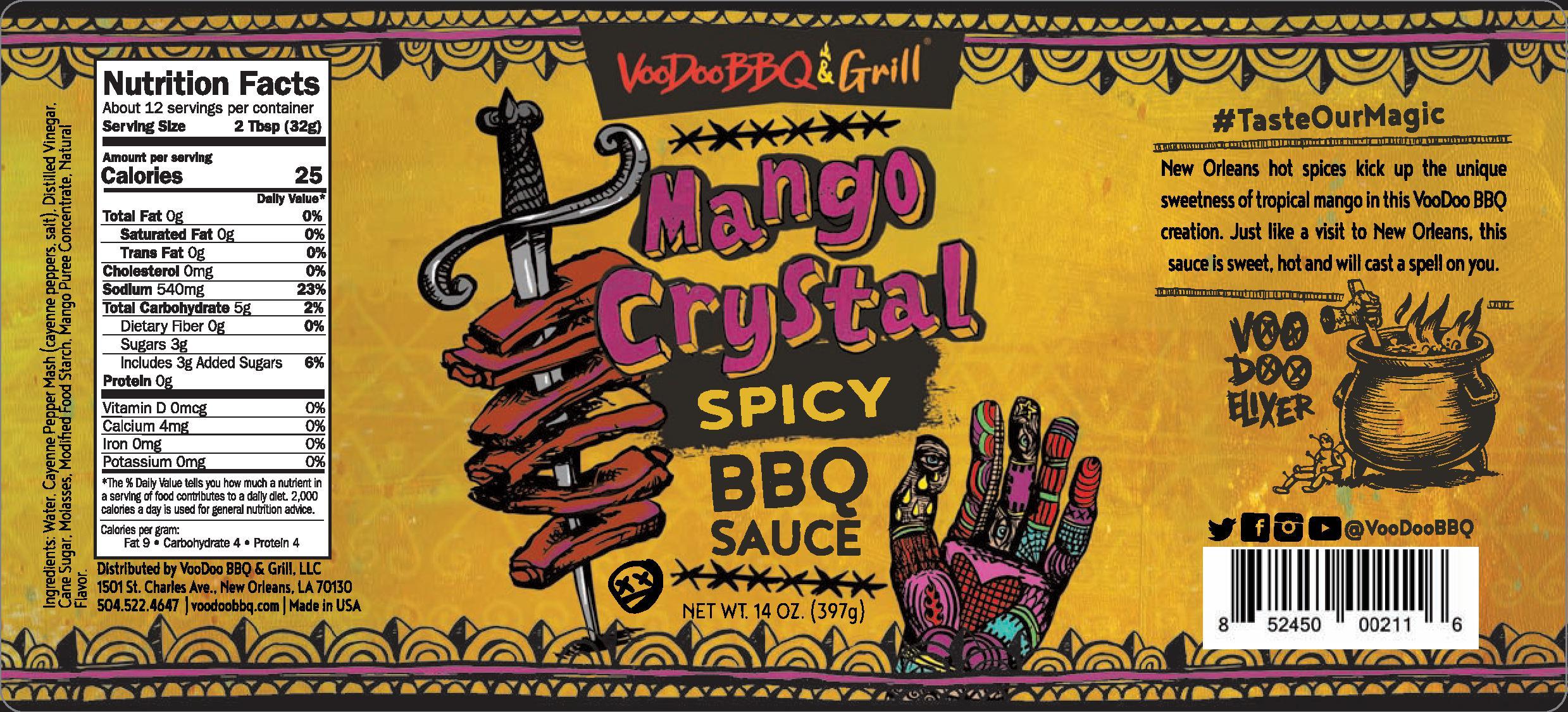 VooDoo Mango Crystal Sauce